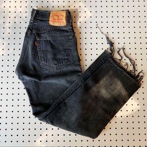 Vintage Levi's 501 Black High Rise Mom Jeans